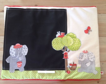 place mat in chalkboard fabric