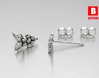 925 Sterling Silver Oxidized Earrings, Grape Earrings, Stud Earrings (Code : K10D)