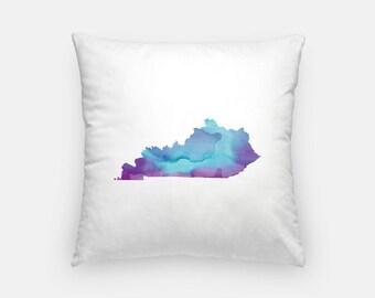 Kentucky pillow | Kentucky decor | Kentucky home decor | watercolor decor | throw pillow | Kentucky watercolor | Louisville | Lexington