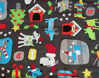 cotton fabric, 100% cotton, cotton Christmas