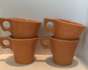 McCoy Pottery Suburban Coffee Cups Set of Four Made in USA
