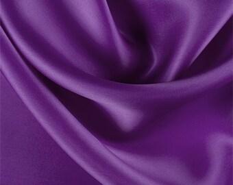 Grape Silk Satin Organza, Fabric By The Yard