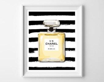 Chanel Print / Chanel Printable / Art illustration Print /Wall Art / Home Decor / Chanel Poster / Typo Art / Typography / Chanel Wall Art
