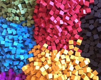 8mm Wooden Cubes (10x in pack) - Boardgame Components / Spares / Tokens - 7 Colours Available