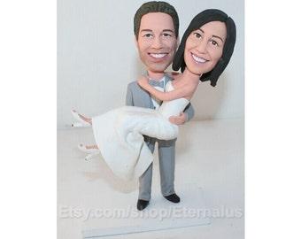 Unique wedding cake topper, Funny Wedding Cake Topper, Wedding Cake Toppers, Wedding figurines, CUSTOM cake topper, FUNNY cake topper