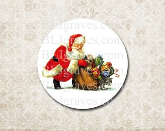 Santa Stickers Vintage Style Santa Envelope Seals Party Favor Treat Bag Stickers CS016