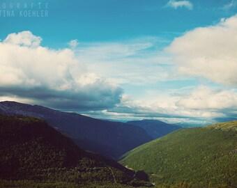 WANDERLUST photography print, Norway mountain landscape, 8x12