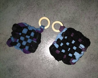New handmade sponge eco Tawashi blue, purple and black. Your choice!