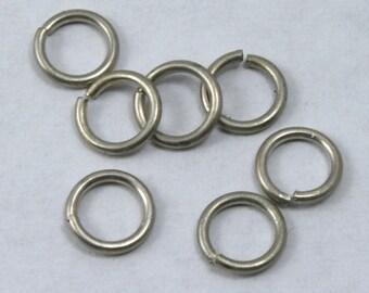 6mm Antique Silver Jump Rings #RJA024