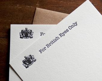 Arrested Development Letterpress Cards Michael Bluth British Eyes Only Funny Boyfriend Funny Gift Ideas Husband Lucille James Bond Bitcoin