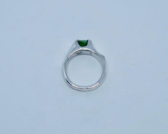 Emerald in Sterling Silver
