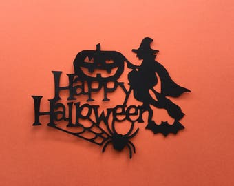 Happy Halloween  paper cut great for cardmaking