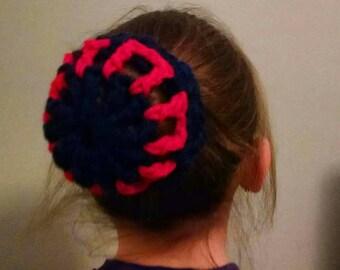 PHISH BUN HOLDER Phun Buns,  Phunky Kids Girls Hair Accessory, Crochet Hair Bun Holder, Gymnastics Hair Accesory, Dance Hair Accesory