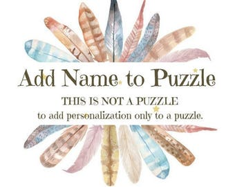 Add a Name to Puzzle