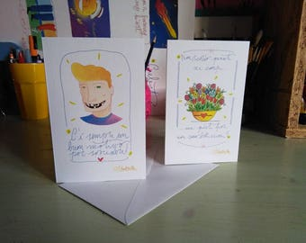 """Greeting Card with envelope series """"Be sincere"""""""