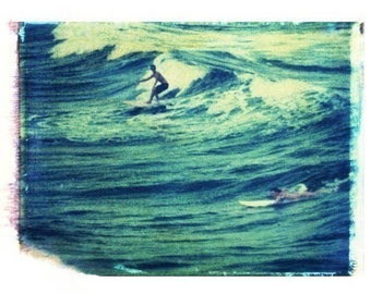 Surf Art Surfing Blue Vintage Art Surfboard Florida 8x10 Print