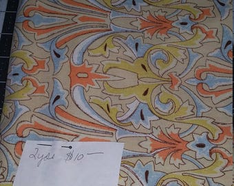 2 Yards Fabric, Victoria and Albertt Museum. Damask, Rare, Hard to Find