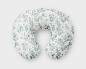 Nursing Pillow Cover Succulent. Nursing Pillow Cover. Succulent Boppy Cover. Baby Shower Gift. Baby Bedding.