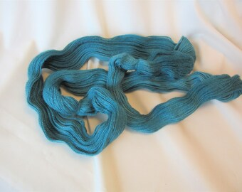 100% Superfine Alpaca - Hand Dyed/Painted - Teal - 3 Ply Sport Weight Yarn  - 200 Yds - 14-18 WPI