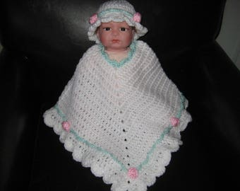 Crochet Baby Poncho and Hat