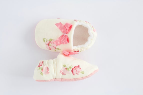 White and Pink Baby girls shoes