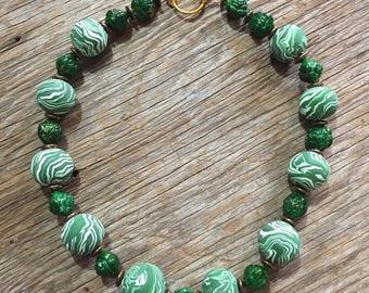 Verdé - Unique Green Handmade Statement Necklace