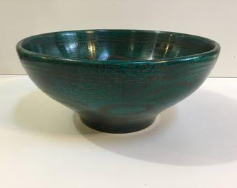 Green Dyed Segmented Bowl