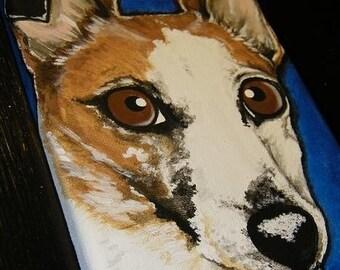 Pet Painting Portrait-Custom 5x7 hand painted, pet loss, pet memorial