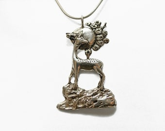 Deer Moon Necklace