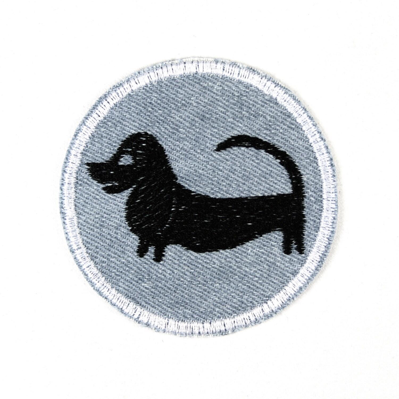 Bügelbild Aufnäher Applikation Dackel Accessoire patch ca. 7