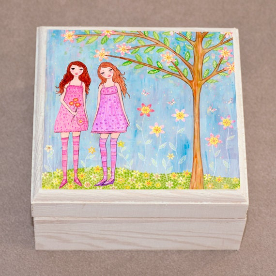 Best Friend Jewelry Box Friendship Trinket Box Gift Box