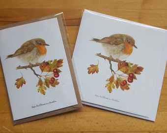 Large Robin Cards x 5