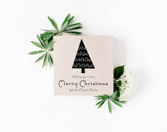 Black & White, Merry Christmas Card, Professional, Business, Simple, Christmas Card, Personalised, Digital, Printable