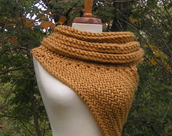 KAT COWL Adult Cowl Archers Armor Vest Halloween costume cosplay scarf Handknit Soft Huntress Cross Body Hunting Neckwear minimalist fire