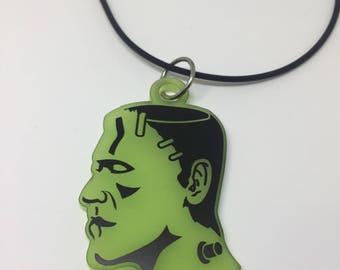 Acrylic Frankenstein Necklace