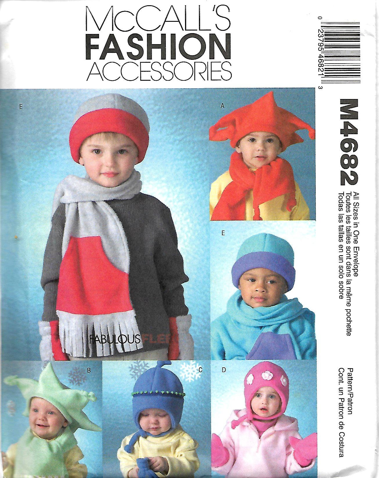 3902e1fd349 McCall s 4682 Infants And Toddler s Hats