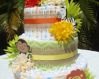Jungle theme cake Etsy