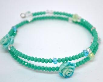 Green Beaded Water Bracelet