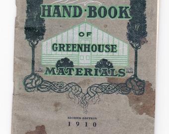 1910 Lord & Burnham, New York, Handy Handbook of Greenhouse Materials Catalogue -- Free Shipping!
