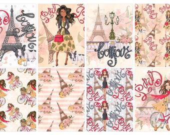 Bonjour Paris Diva Stickers