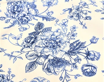 French Toile Print - Decorative Floral Print Fabric - Best for Home Decor and Crafts