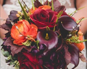 Fall wedding bouquet Etsy