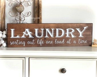Laundry Room Decor | Farmhouse Laundry Sign | laundry room wall art | laundry sign | laundry decor | laundry wall sign | home decor laundry