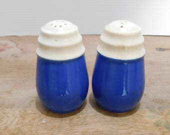 Vintage Blue and White Salt & Pepper Shakers