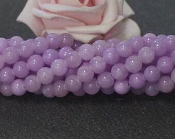 20 6 mm lilac color PEJ12 Mashan jade beads
