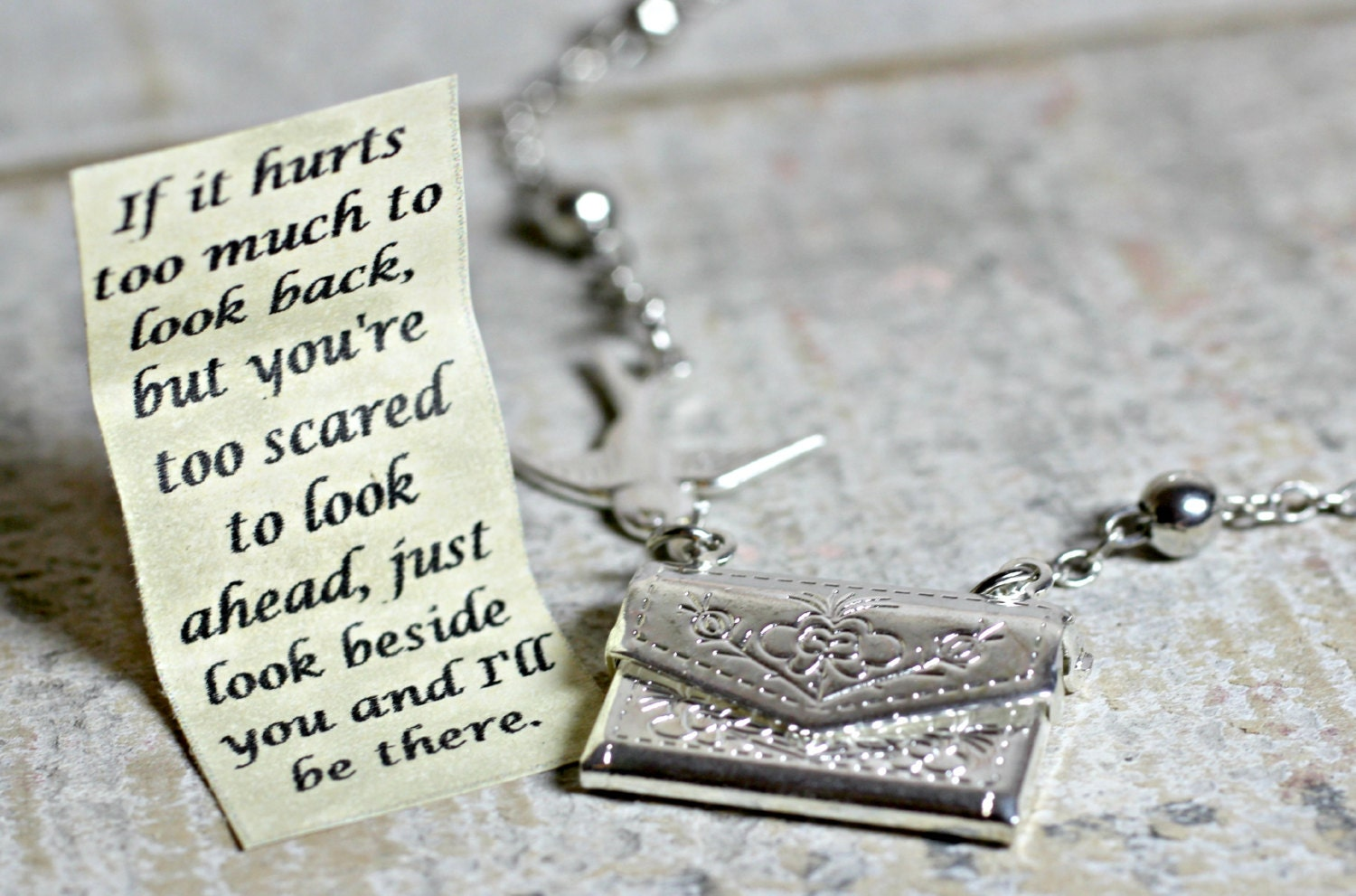 inspirational store pooh locket lockets pendant door winnie the hobbit quote secret