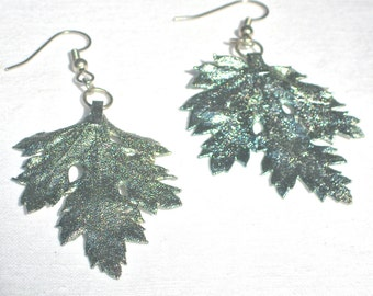 Nature Inspired Leaf Earrings, Fantasy Style, Boho Style, Cottage Chic Style, Resort Style