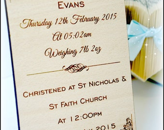 Personalised Christening Sign, Christening Plaque, Baptism Naming Day Holy Communion Sign Plaque Gift