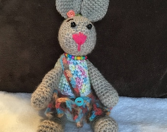 Crochet Little pretty rabbit with beautiful skirt