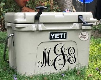 Yeti Roadie Custom Monogram Initials Die-Cut Sticker